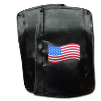Motor Trike Harley-Davidson Tri Glide Fender Bras Embroidered American Flag Long