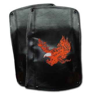 Motor Trike Harley-Davidson Tri Glide Fender Bras Embroidered Flaming Eagle Long