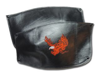 Harley-Davidson Fender Bras Embroidered Flaming Eagle Short