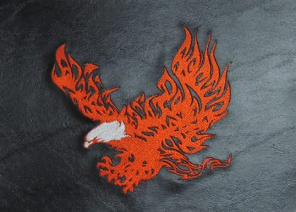 Trike Fender Bras Embroidered Flaming Eagle