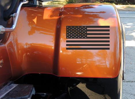 American Flag Trike Fender Decal Sticker