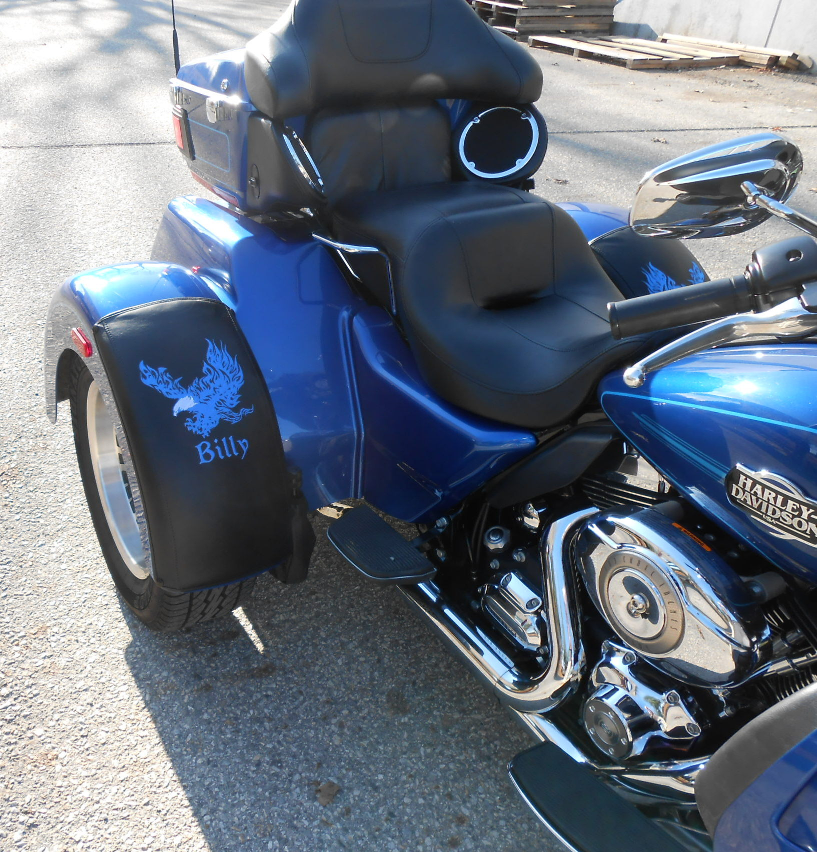 Harley Tri Glide - Flaming Eagle with Namess