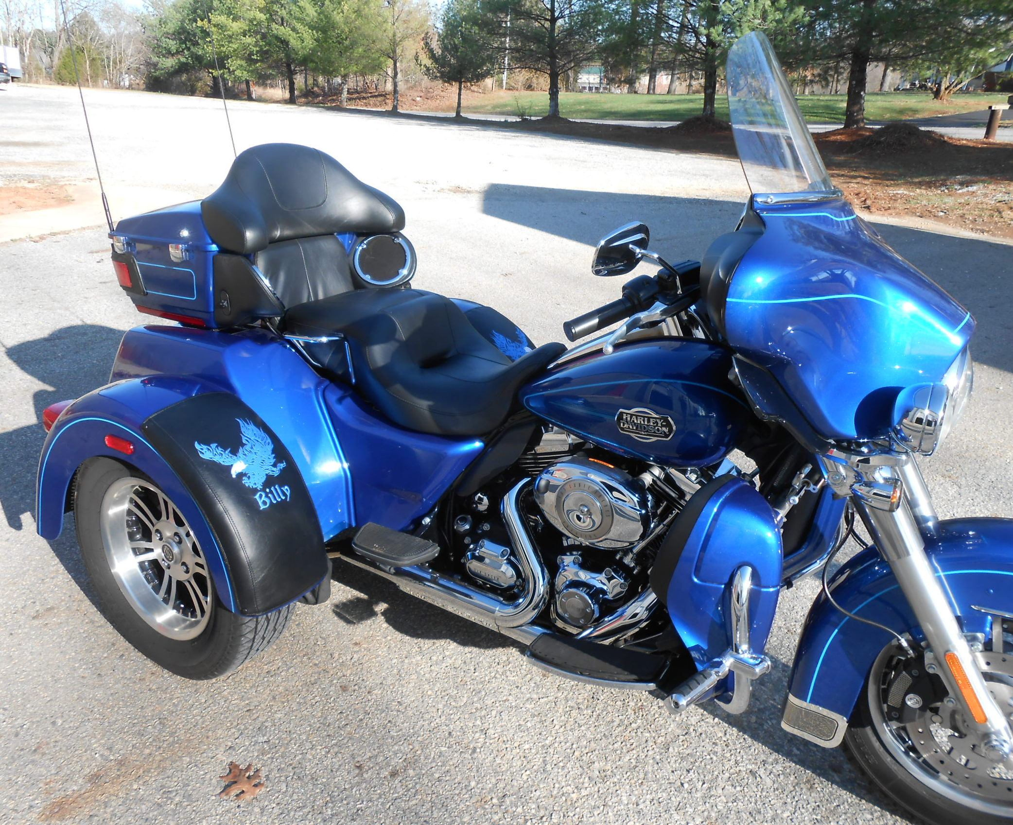 Harley Tri Glide - Flaming Eagle with Names